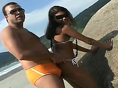 Anselmo met hot Latina, named Sara, at the local beach. She looks very hot added to there is something up her likes turn this way proves us turn this way she wants to get a dick!