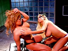 Shyla Stylez offers backbone scream hear of pussy to lesbian Bridgette B.